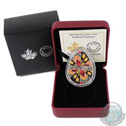 2017 Canada $20 Traditional Pysanka (Egg) 1oz Fine Silver Coin (TAX Exempt). This egg-Shaped coin is