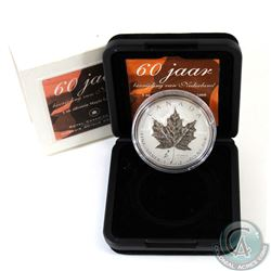 2005 Canada $5 Privy Mark Tulip 1oz Fine Silver Maple Leaf (TAX Exempt). This proof quality 1oz coin
