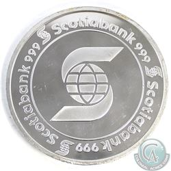 Scotiabank 5 oz .999 Fine Silver Round (TAX Exempt).