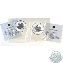 Pair of 2004 Canada $5 Leo & Virgo Privy 1oz Silver Maples (TAX Exempt) .9999 Pure Silver with a lim