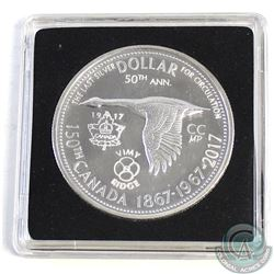 1867-1967Counter-stamped Silver Dollar Commemorating the 150th Anniversary of Canada & 100th Annive