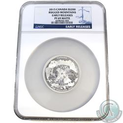 2015 Canada $200 Rugged Mountains NGC Certified PF-69 Early Release (TAX Exempt). This stunning 99.9