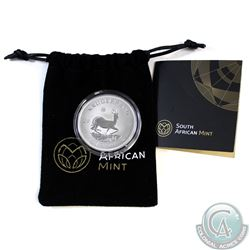 2017 South Africa Fine Silver Krugerrand (TAX Exempt). This 999 Fine Silver Coin Commemorates the 50