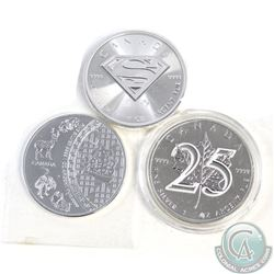 Lot of 3x Canadian Commemorative $5 1oz 9999 Fine Silver Maples (TAX Exempt). You will recieve the 2