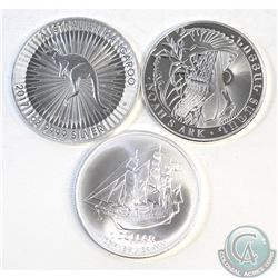 Lot of 3x 2017 Fine Silver 1oz Commemorative Coins (TAX Exempt). You will receive Armenia Noah's Ark