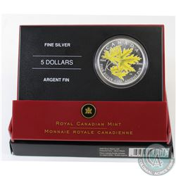 2006 Canada $5 Coloured Silver Maple Leaf in All Original Packaging (Coin is lightly toned) (TAX Exe