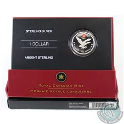 2006 Canada Sterling Silver Colourized Lucky Loonie in All Original Packaging (Outer sleeve lightly