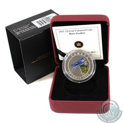 2011 Canada 25-cent Barn Swallow Coloured Coin in All Original Packaging.