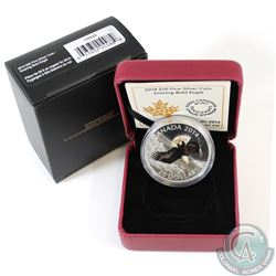 2014 Canada $20 Soaring Bald Eagle Fine Silver Coin in All Original Packaging (Capsule and coin are