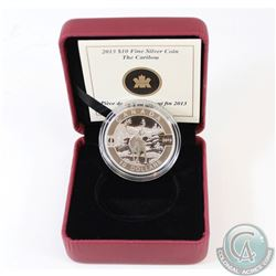 2013 $10 O Canada - The Caribou Fine Silver Coin in Maroon RCM Display Box with COA (TAX Exempt)