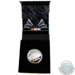 2016 Canada NASCAR 1oz Fine Silver Coloured Medallion (Residue on outer box & missing COA) (TAX Exem