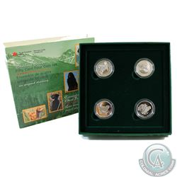 1997 Canada 4-coin 50-cent Sterling Silver Dogs Canada's Best Friends Set in All Original Packaging