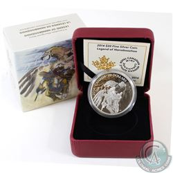 2014 Canada $20 Nanaboozhoo & the Thunderbird's Nest Fine Silver Coin in All Original Packaging (TAX