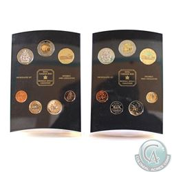 1999 & 2000 Canada Tiny Treasures 7-coin Uncirculated Coin Sets in Hard Plastic Holders (Some of the