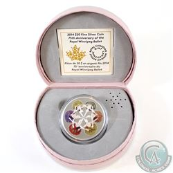 2014 Canada $20 Royal Winnipeg Ballet 75th Anniversary Fine Silver Coin (The music does not play any