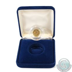 1993 Canada $1 .9999 Fine Gold 1/20oz Coin Encapsulated in Blue Display Box (TAX Exempt)