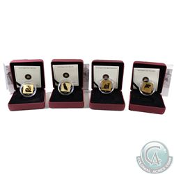 Lot of 4x Canada $3 Wildlife Conservation Series Sterling Silver Square Coins. You will receive 2010