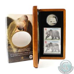 2004 Canada $8 The Great Grizzly Coin and Stamp Set in All Original Packaging.