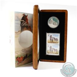 2006 Canada $5 Sable Island Horse and Foal Coin and Stamp Set in All Original Packaging.