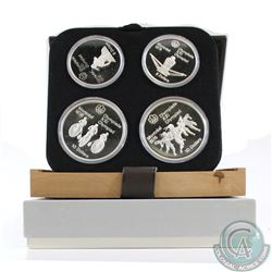 1976 Montreal Olympics 4-coin Series III Sterling Silver Set in All Original Packaging. This set con