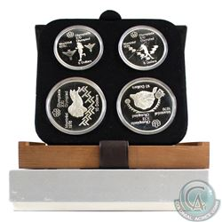 1976 Montreal Olympics 4-coin Series IV Sterling Silver Set in All Original Packaging. This set cont