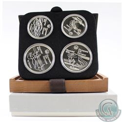 1976 Montreal Olympics 4-coin Series V Sterling Silver Set in All Original Packaging. This set conta