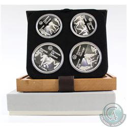 1976 Montreal Olympics 4-coin Series VI Sterling Silver Set in All Original Packaging. This set cont