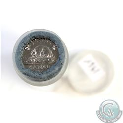 Estate Lot: Uncirculated 1964 Canada 5-cent Error Roll. All 40 coins have Thread Off 4th Whisker Rig