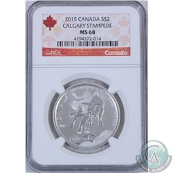 2015 Canada $2 Calgary Stampede NGC Certified MS-68