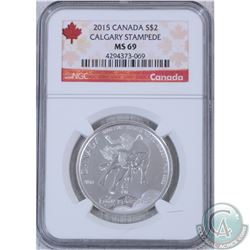 2015 Canada $2 Calgary Stampede NGC Certified MS-69