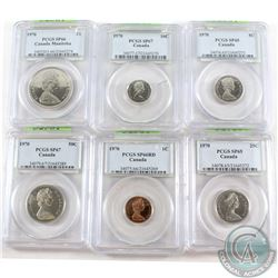 Complete 1970 Specimen Set. All PCGS Certified. Supposedly only 1,000 sets were minted for PM Pierre
