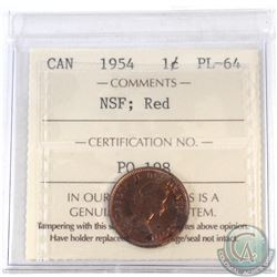 1-cent Canada 1954 NSF ICCS Certified PL-64 Red