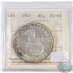 1-cent Canada 1957 ICCS Certified PL-65