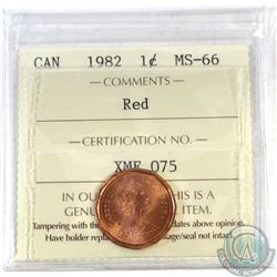 1-cent Canada 1982 ICCS Certified MS-66 Red