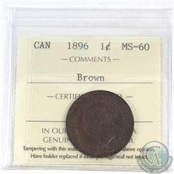 1-cent Canada 1896 ICCS Certified MS-60 Brown