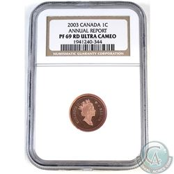1-cent Canada 2003 Annual Report NGC Certified PF-69 Ultra Cameo