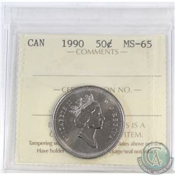 50-cent Canada 1990 ICCS Certified MS-65