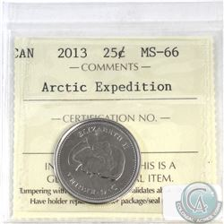 25-cent Canada 2013 Arctic Expedition ICCS Certified MS-66