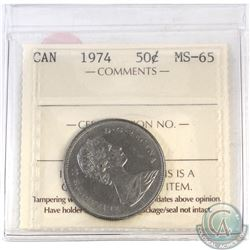 50-cent Canada 1974 ICCS Certified MS-65