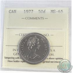 50-cent Canada 1977 ICCS Certified MS-65