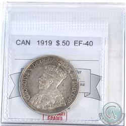 50-cent Canada 1919 CMG Certified EF-40