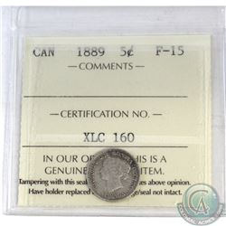 5-cent Canada 1889 ICCS Certified F-15
