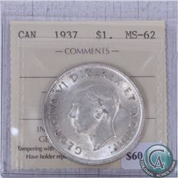 1937 Canada $1 ICCS Certified MS-62