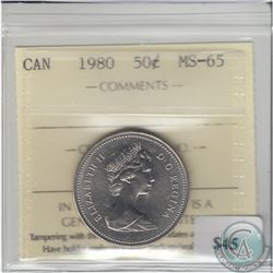 1980 Canada 50ct ICCS Certified MS-65