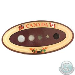 Canada 5-coin Year Set in Decorative Holder with Coins Dated 1901
