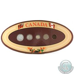 Canada 5-coin Year Set in Decorative Holder with Coins Dated 1929