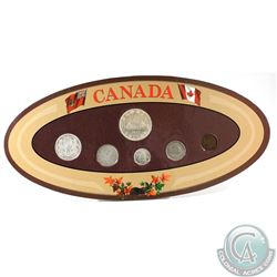 Canada 6-coin Year Set in Decorative Holder with Coins Dated 1937
