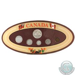 Canada 6-coin Year Set in Decorative Holder with Coins Dated 1938
