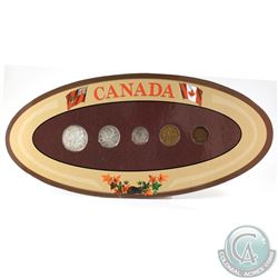 Canada 5-coin Year Set in Decorative Holder with Coins Dated 1943