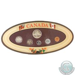 Canada 6-coin Year Set in Decorative Holder with Coins Dated 1953